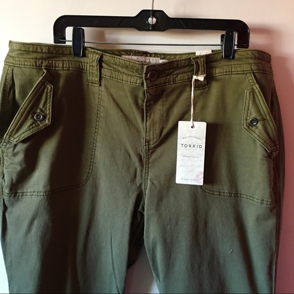 45945afd9de67 Cropped Twill Military Pant - Olive Wash NWT